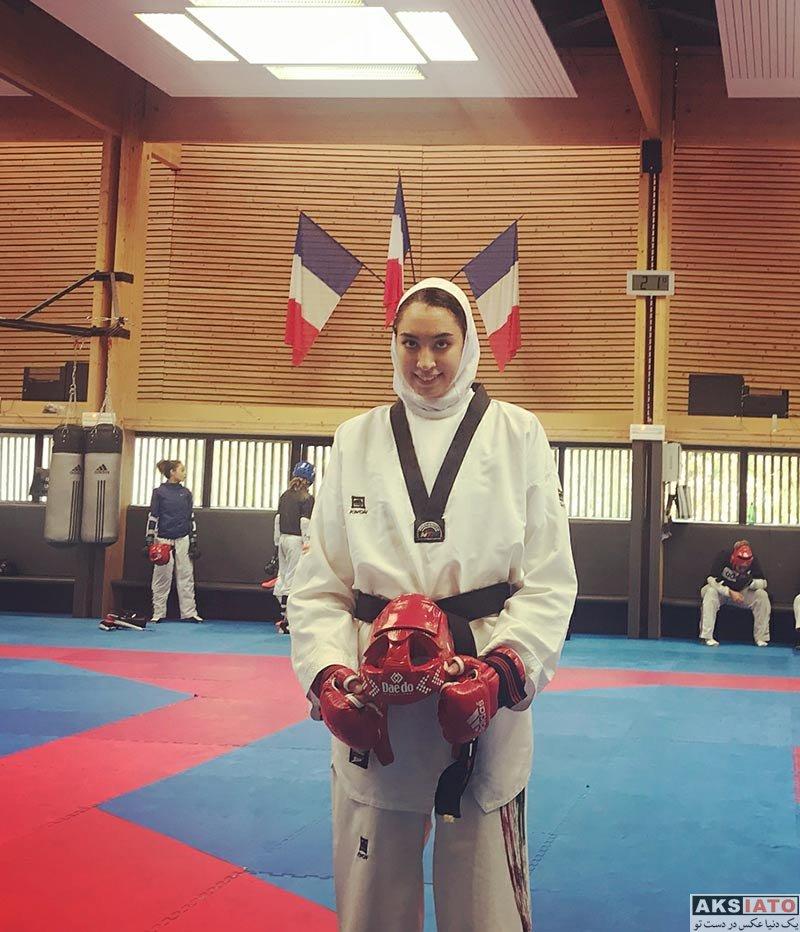 ورزشکاران ورزشکاران زن  کیمیا علیزاده در کشور فرانسه (3 عکس)