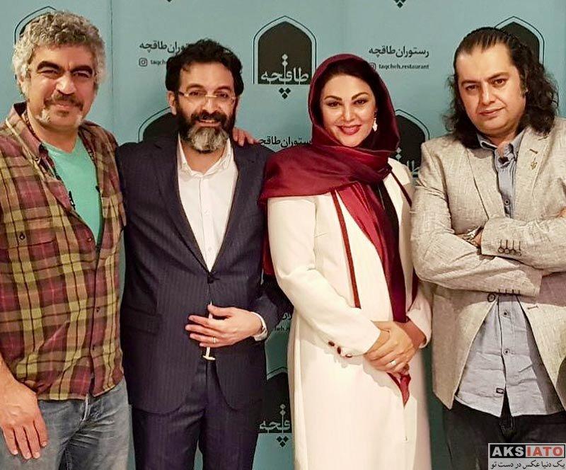 بازیگران بازیگران زن ایرانی خانوادگی  لاله اسکندری و همسرش در افتتاحیه رستوران کافه طاقچه (5 عکس)