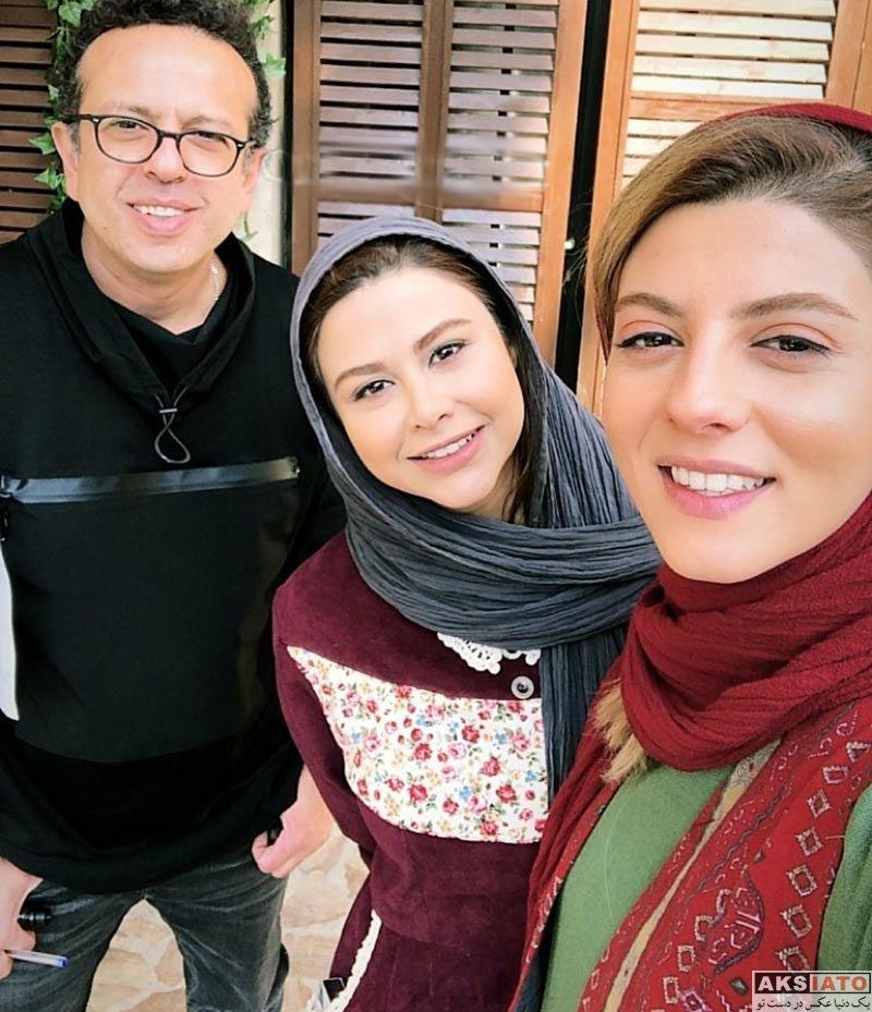 بازیگران بازیگران زن ایرانی  مهسا طهماسبی در پشت صحنه سریال دیوار به دیوار 2 (5 عکس)
