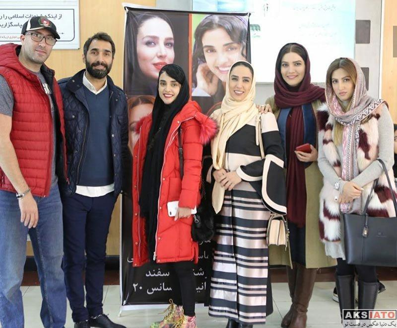 بازیگران بازیگران زن ایرانی  متین ستوده و سوگل طهماسبی در اکران مردمی فیلم هاری (2 عکس)