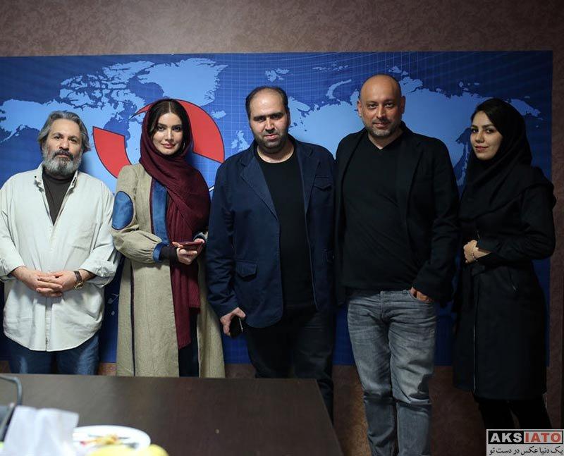 بازیگران بازیگران زن ایرانی  متین ستوده و عوامل سریال سارق روح در خبرگزاری برنا (5 عکس)