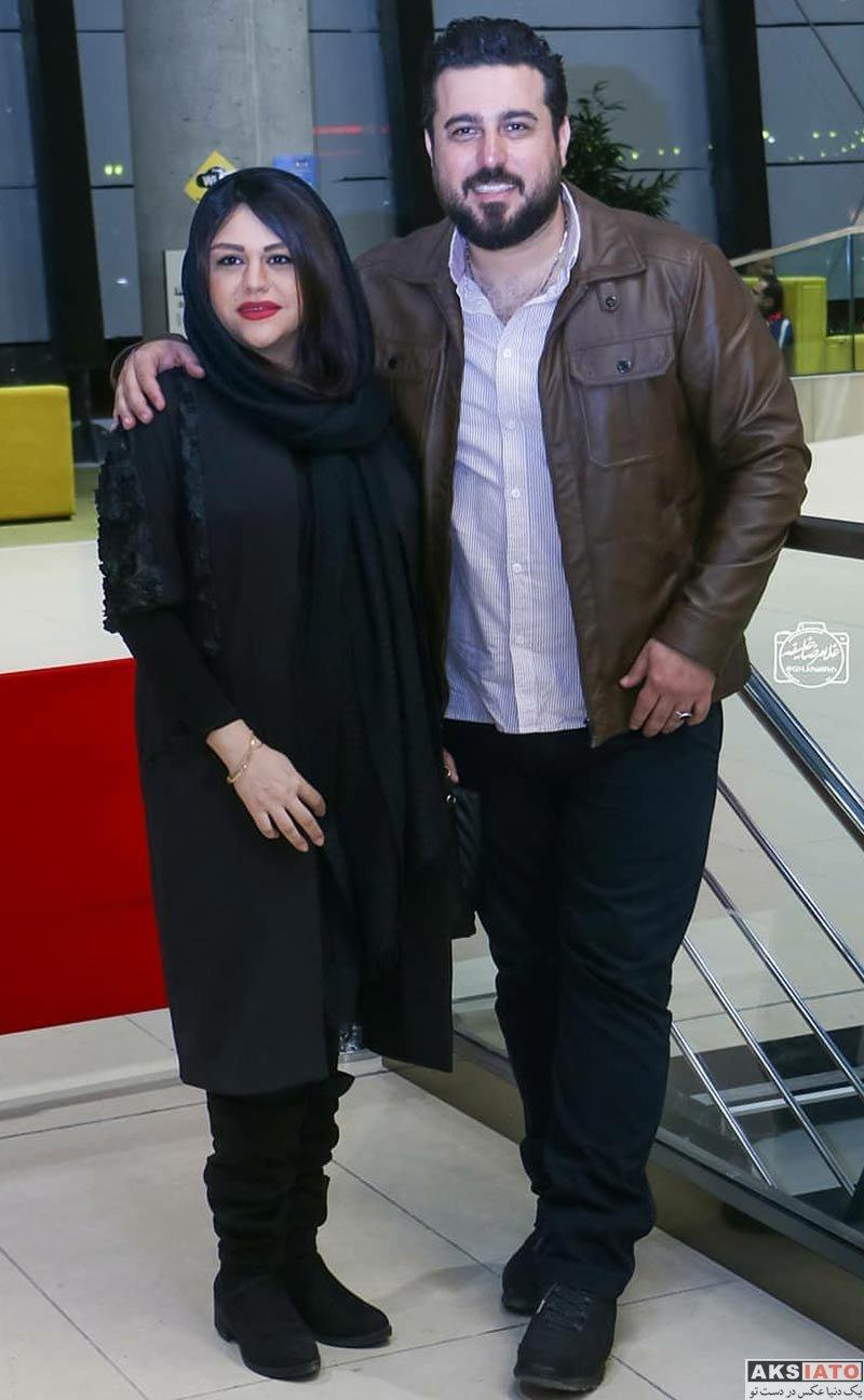 بازیگران بازیگران مرد ایرانی  محسن کیایی و همسرش در اکران خصوصی فیلم لونه زنبور (4 عکس)