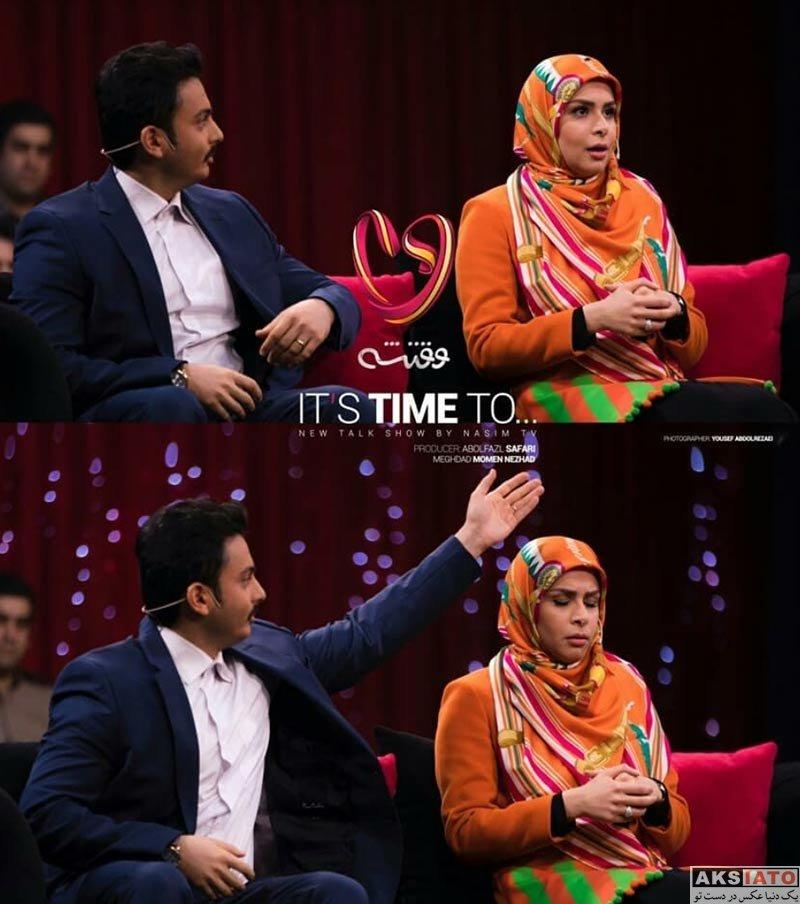 بازیگران  نجمه جودکی و همسرش در برنامه وقتشه (3 عکس)