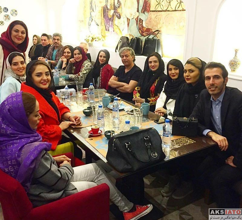 بازیگران بازیگران زن ایرانی  نرگس محمدی در افتتاحیه رستوران کافه طاقچه (4 عکس)