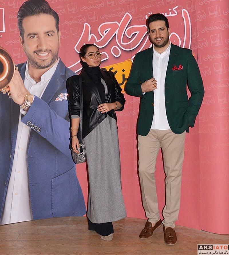 خوانندگان  عکس های امید حاجیلی در کنار نسیم برادرزاده اش (3 عکس)