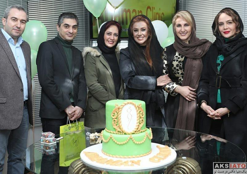 بازیگران بازیگران زن ایرانی  نسرین مقانلو و فاطمه گودرزی در کلینیک زیبایی آریامن (3 عکس)