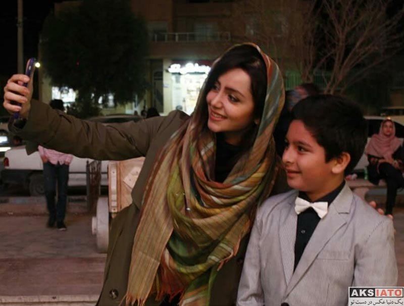 بازیگران بازیگران زن ایرانی  نازنین بیاتی در اکران مردمی فیلم مادر در یزد (4 عکس)