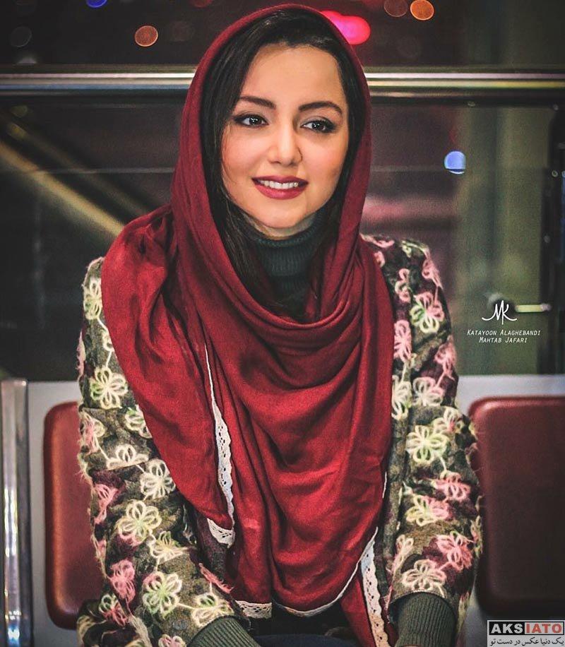بازیگران بازیگران زن ایرانی  نازنین بیاتی در اکران فیلم آینه بغل در پردیس آزادی (5 عکس)
