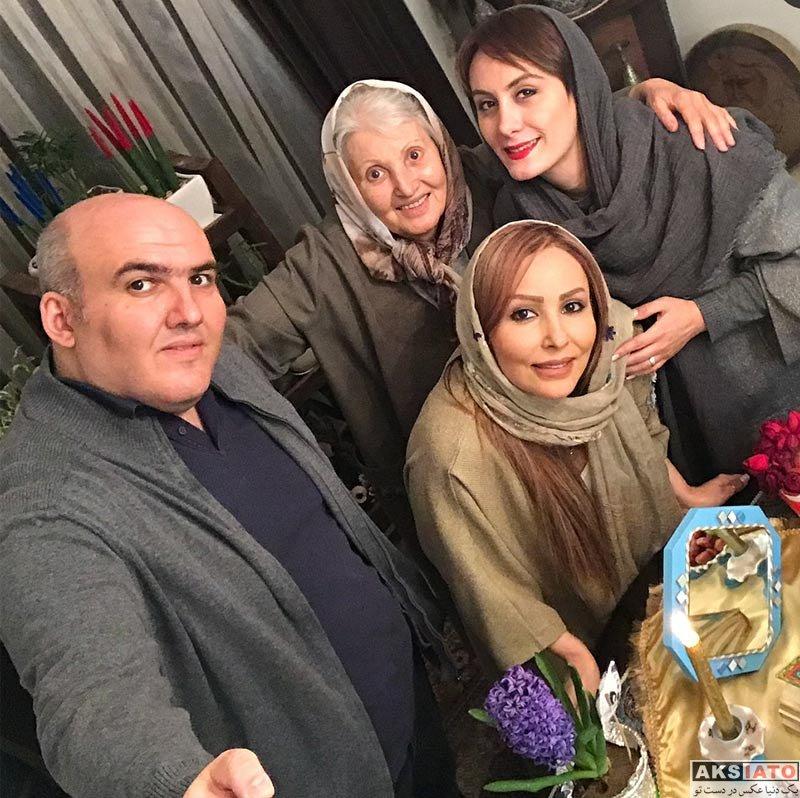 بازیگران بازیگران زن ایرانی  عکس های خانوادگی پرستو صالحی ویژه عید نوروز 97