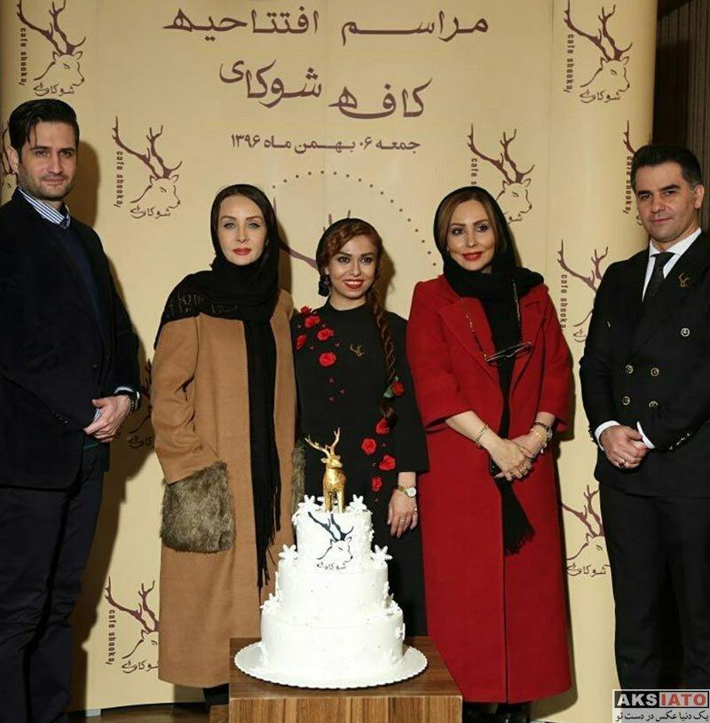 بازیگران بازیگران زن ایرانی  پرستو صالحی در افتتاحیه کافه شوکا