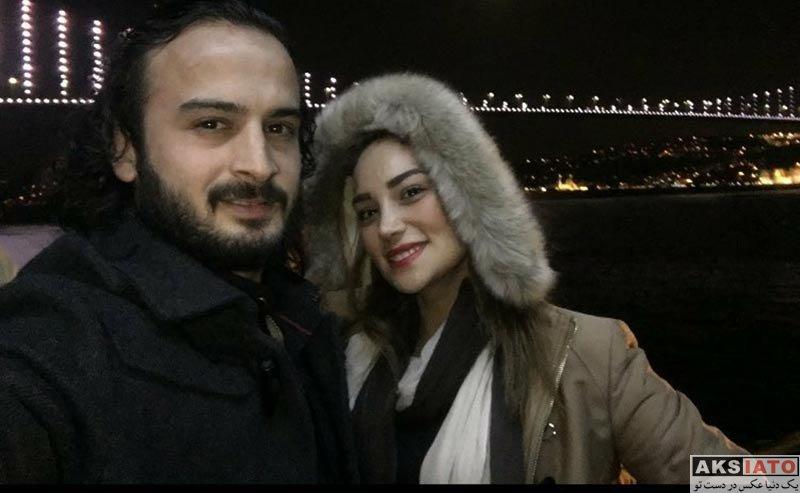 ورزشکاران ورزشکاران مرد  پیمان حسینی به همراه همسرش در ترکیه (2 عکس)