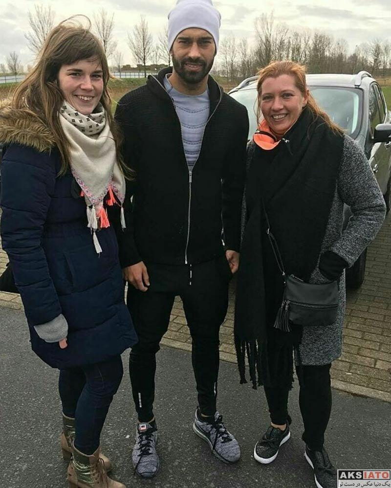 ورزشکاران ورزشکاران مرد  رامین رضاییان در کنار هواداران خانم باشگاه اوستنده (3 عکس)