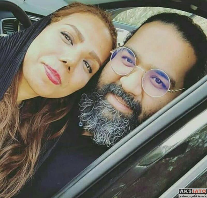 خانوادگی خوانندگان  عکس سلفی رضا صادقی با خواهرش