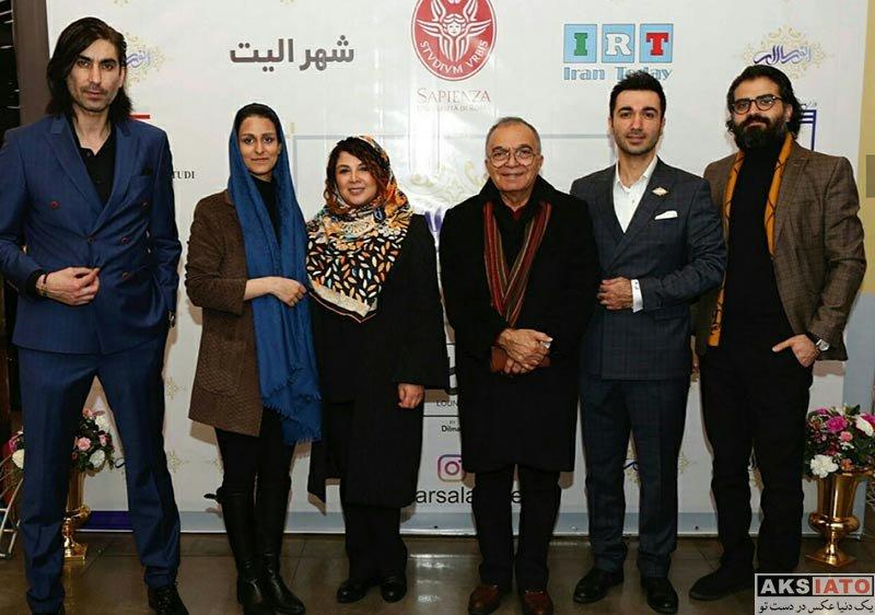 بازیگران بازیگران زن ایرانی  شهرزاد مدیری در مراسم رونمایی از برند انورسالار (3 عکس)