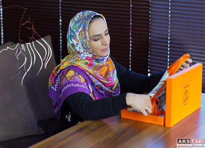 بازیگران بازیگران زن ایرانی  عکس های تبلیغاتی سوگل طهماسبی برای روسری برند (8 عکس)