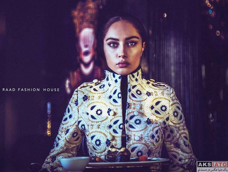 بازیگران عکس آتلیه و استودیو  مدلینگ ترلان پروانه برای برند خانه مد راد (2 عکس)