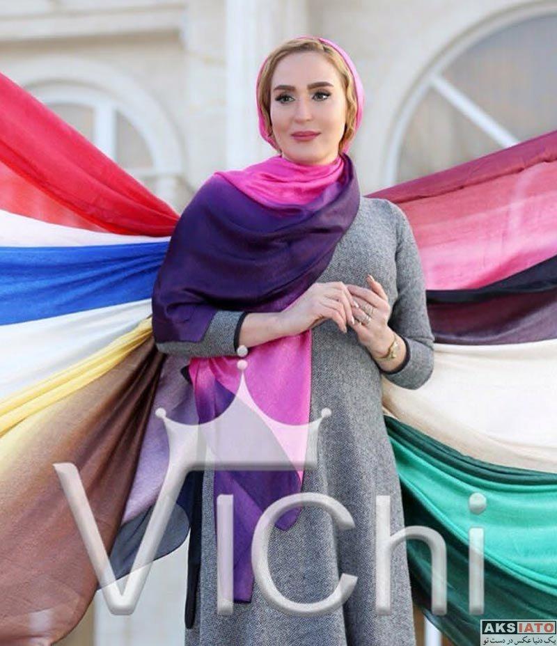بازیگران عکس آتلیه و استودیو  عکس های تبلیغاتی زهره فکور صبور برای برند روسری (10 عکس)
