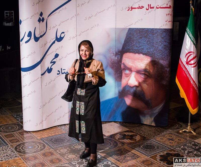 بازیگران بازیگران زن ایرانی  اکرم محمدی در جشن تولد ۸۸ سالگی محمدعلی کشاورز (۳ عکس)