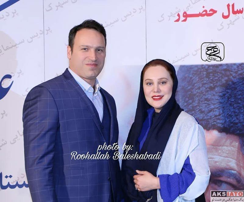 بازیگران بازیگران زن ایرانی  آرام جعفری و همسرش در جشن تولد محمدعلی کشاورز (۴ عکس)