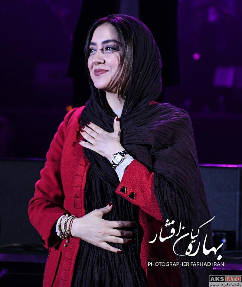 بازیگران بازیگران زن ایرانی  بهاره کیان افشار در کنسرت امید حاجیلی (4 عکس)