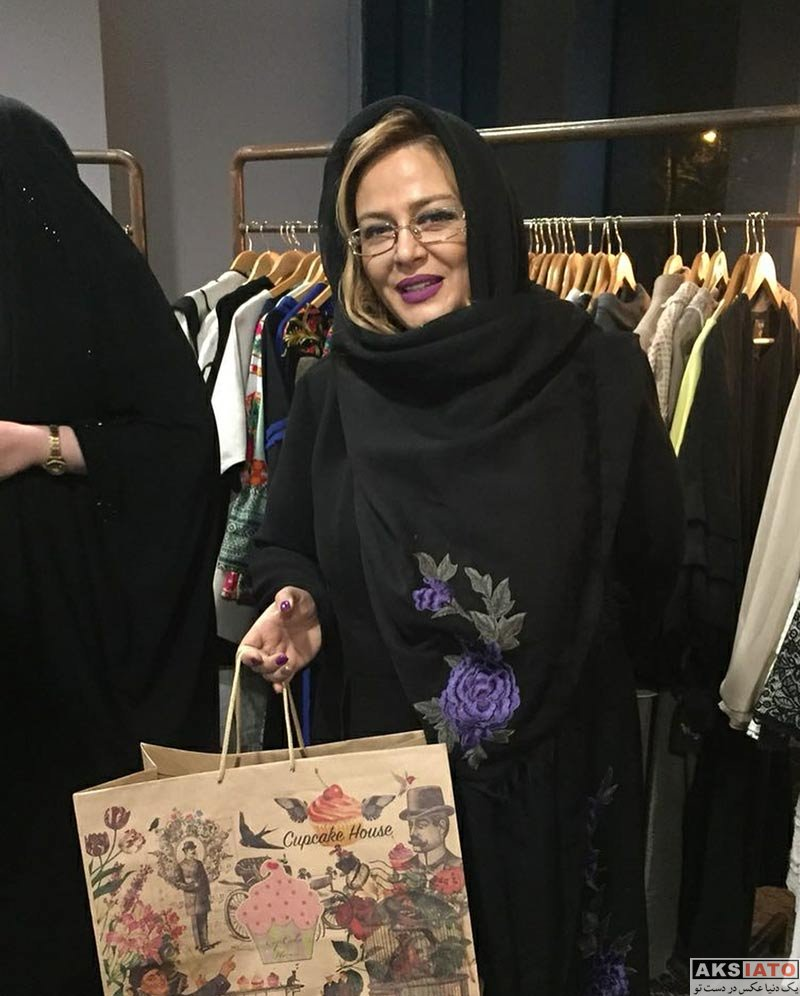بازیگران بازیگران زن ایرانی  بهاره رهنما و همسرش در ایونت فروشگاه حجاب استایل (4 عکس)
