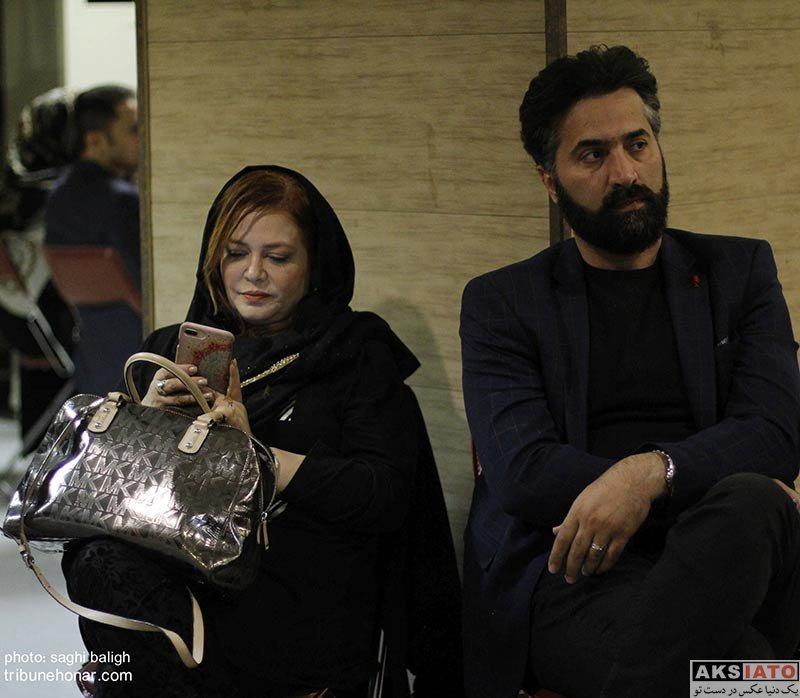بازیگران بازیگران زن ایرانی  بهاره رهنما و همسرش در اولین سالگرد عارف لرستانی (3 عکس)