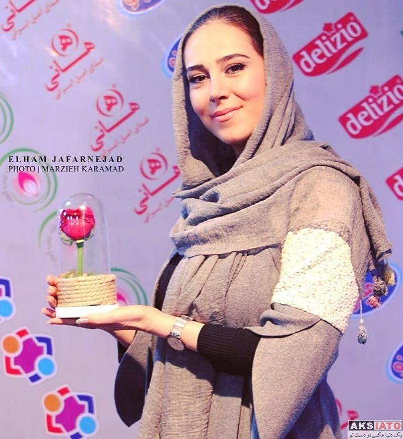 بازیگران بازیگران زن ایرانی  الهام جعفر نژاد و هنرمندان در بازارچه خیریه باز باران (4 عکس)