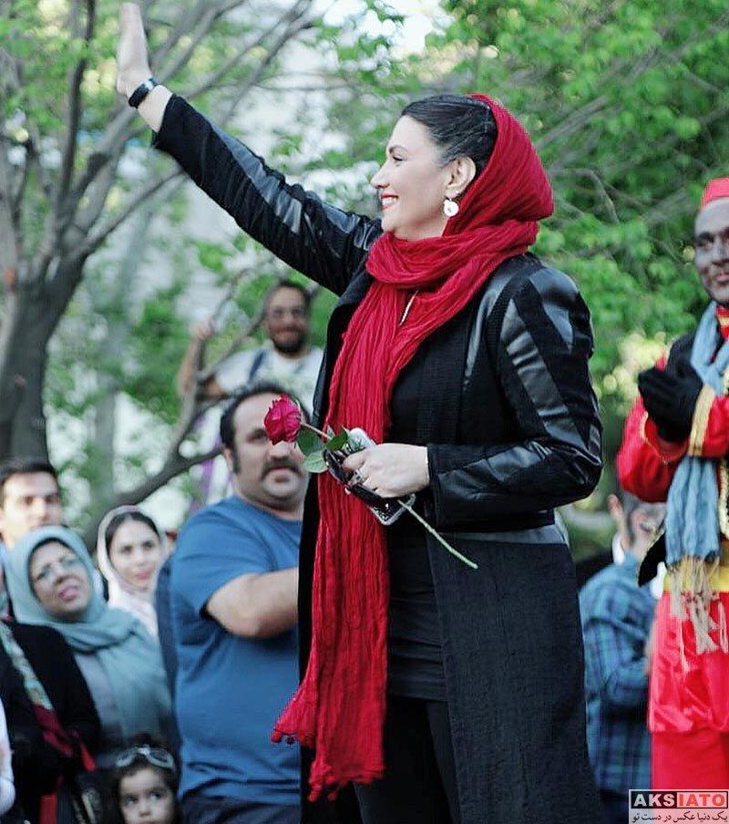 بازیگران بازیگران زن ایرانی  الهام پاوه نژاد در برنامه نوروزگاه تهران (۴ عکس)