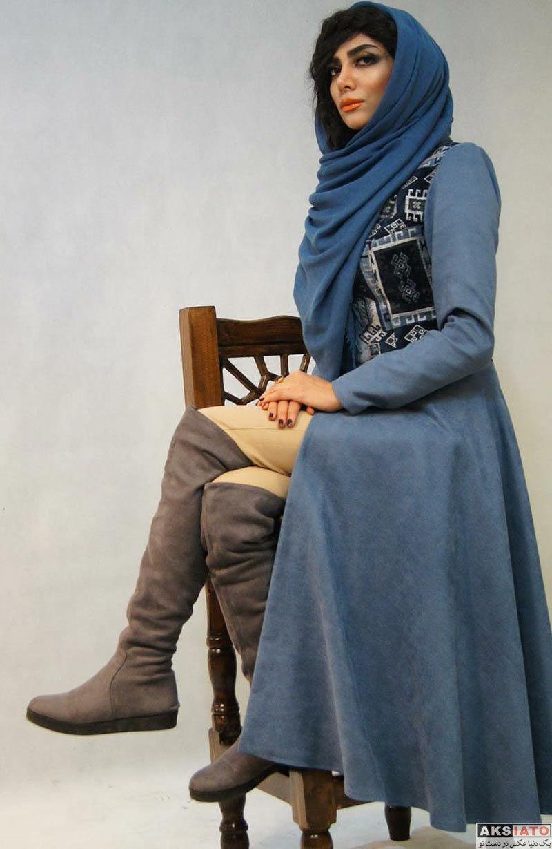 بازیگران عکس آتلیه و استودیو  عکس های مدلینگ غزل عبدی برای مزون فاندو (5 تصویر)