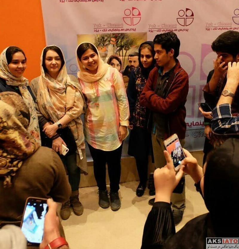 بازیگران بازیگران زن ایرانی  هانیه توسلی در اکران فیلم مادری در یزد (4 عکس)