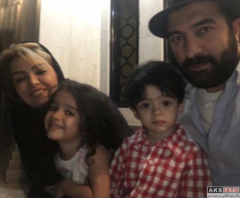 خانوادگی  عکس مجید صالحی در کنار همسر و فرزندانش