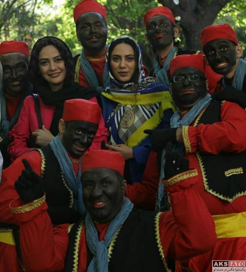 بازیگران بازیگران زن ایرانی  مارال فرجاد در برنامه نوروزگاه تهران (۴ عکس)