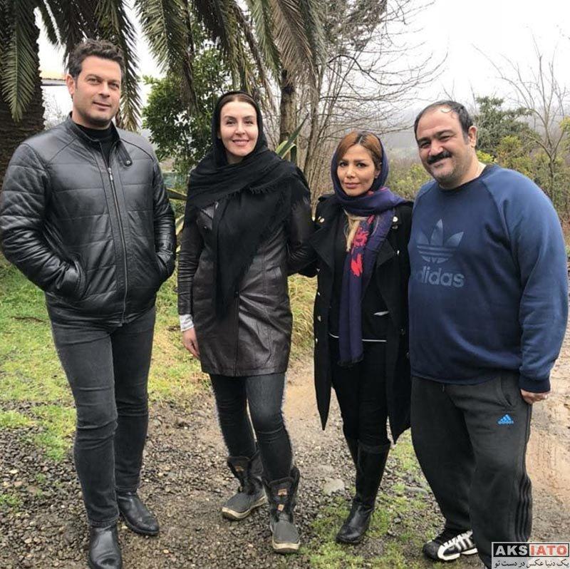 خانوادگی  دو عکس جدید از مهران غفوریان و همسرش
