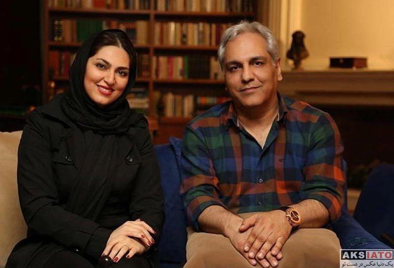 بازیگران بازیگران مرد ایرانی  مهران مدیری و همکاران خانم در پشت صحنه دورهمی (2 عکس)