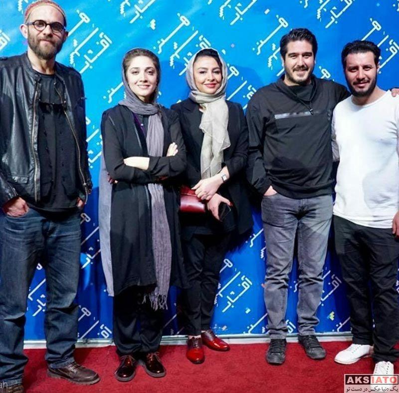 بازیگران بازیگران زن ایرانی  مینا ساداتی در اکران فیلم خرگیوش در شیراز (3 عکس)