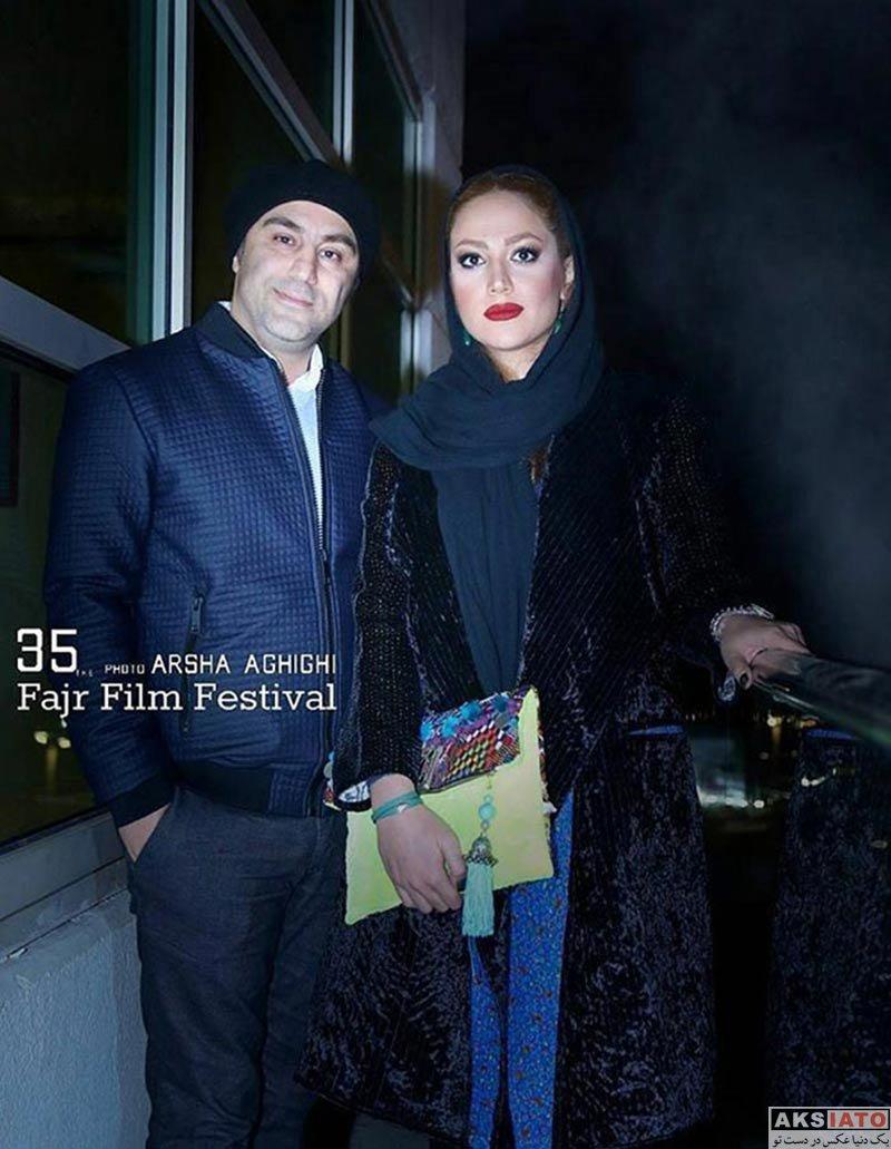 بازیگران بازیگران زن ایرانی خانوادگی  محسن تنابنده بازیگر نقش نقی در پایتخت و همسرش روشنک گلپا (3 عکس)