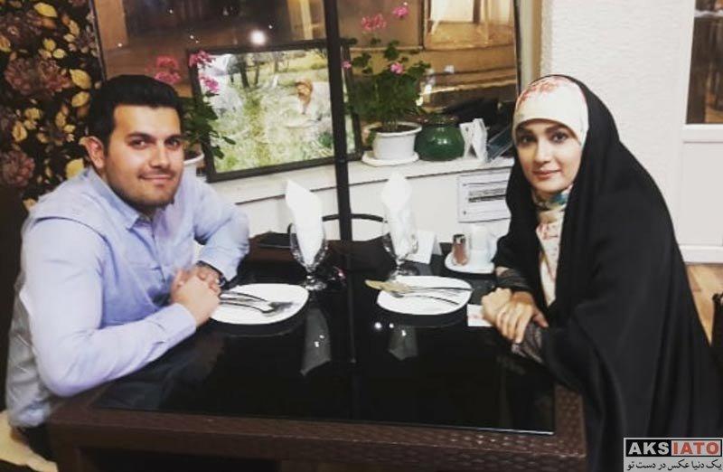 بازیگران مجریان  مژده خنجری مجری برنامه بروز و همسرش در رستوران (3 عکس)
