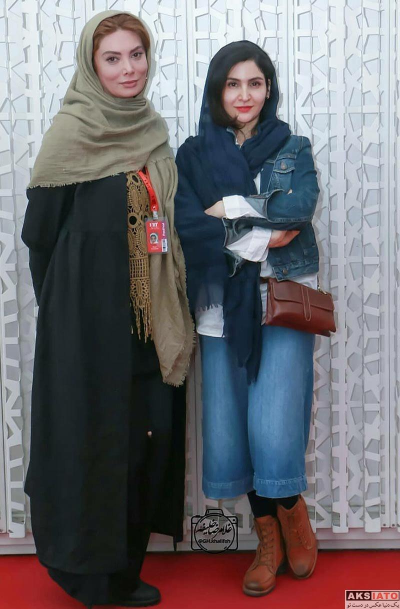 جشنواره جهانی فیلم فجر  نگار فروزنده در سی و ششمین جشنواره جهانی فیلم فجر (4 عکس)