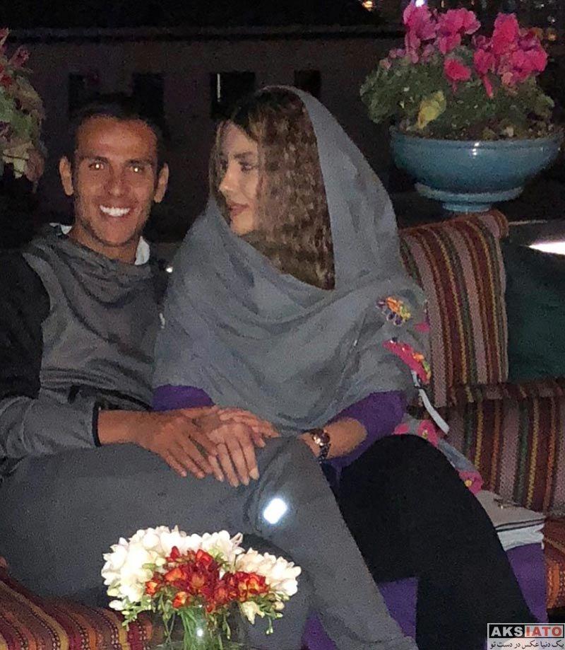 خانوادگی  نیکی محرابی و همسرش یعقوب کریمی در رستوران (3 عکس)