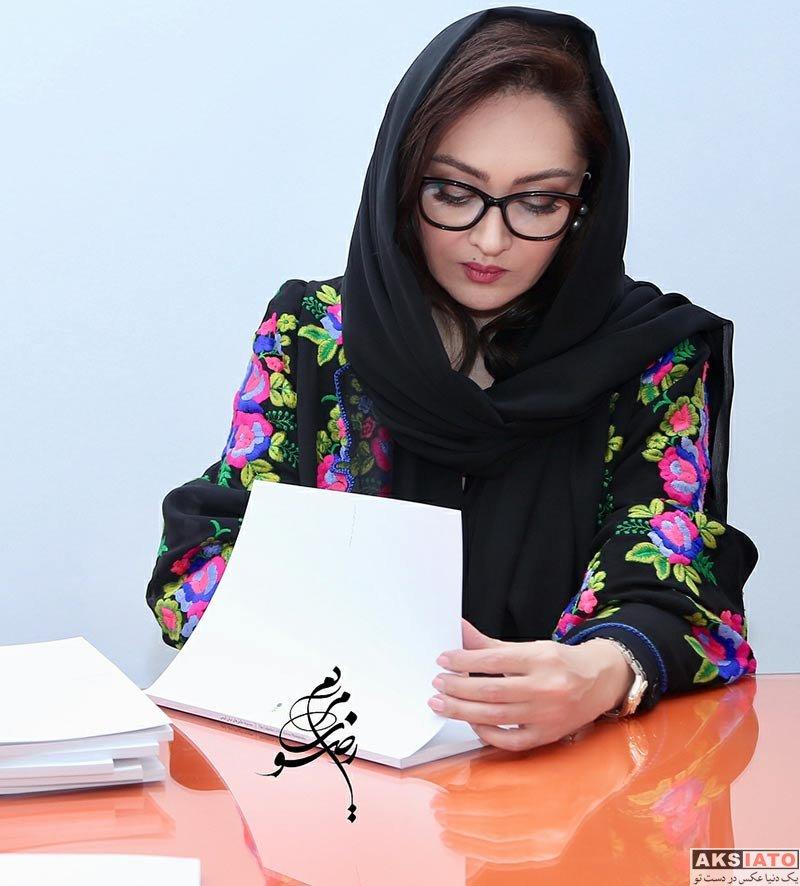 بازیگران بازیگران زن ایرانی  نیکی کریمی در روز اختتامیه نمایشگاه عکس هایش (5 عکس)