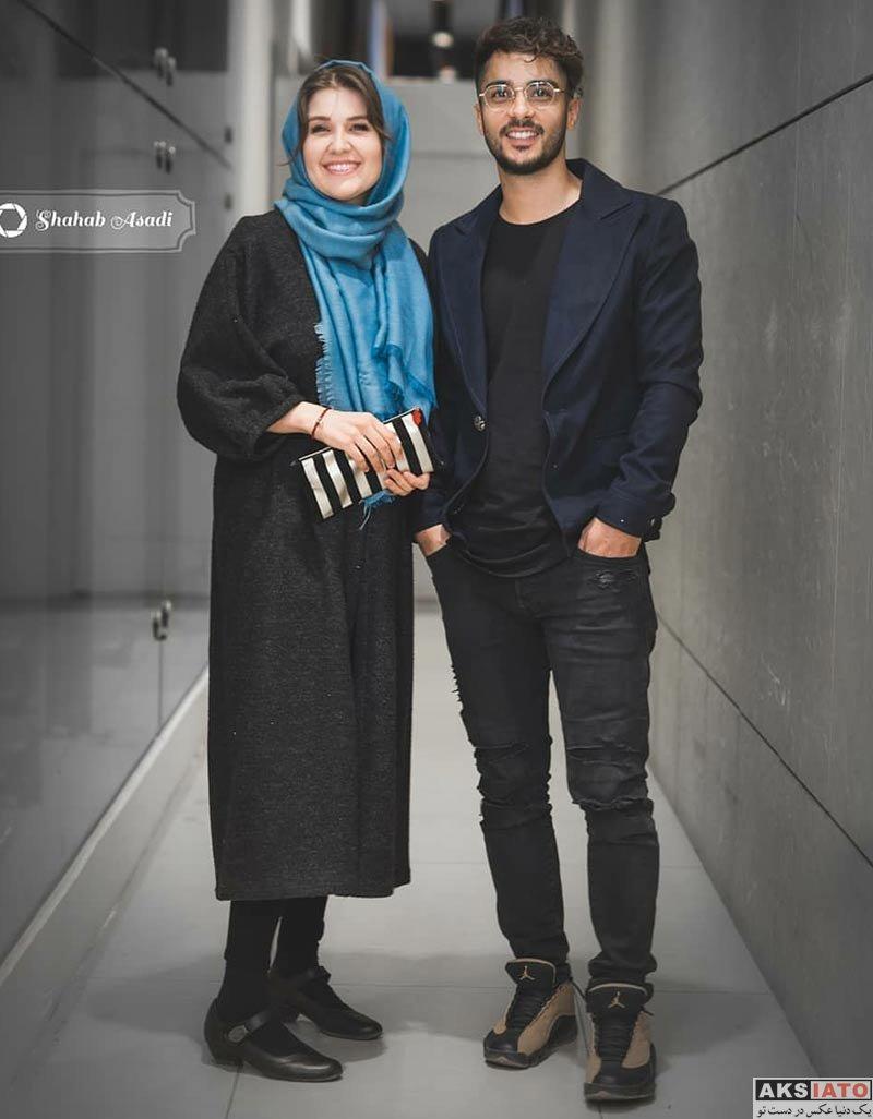 بازیگران بازیگران زن ایرانی ساعد سهیلی و همسرش در اکران مردمی فیلم لاتاری (4 عکس)