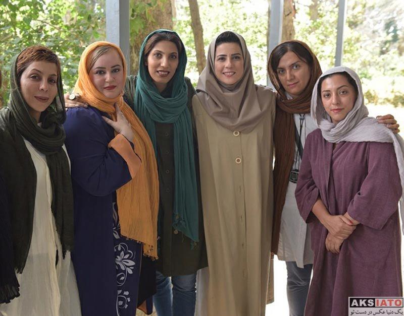 بازیگران بازیگران زن ایرانی  سارا بهرامی با گریم دهه 60 در فیلم هزارپا (4 عکس)