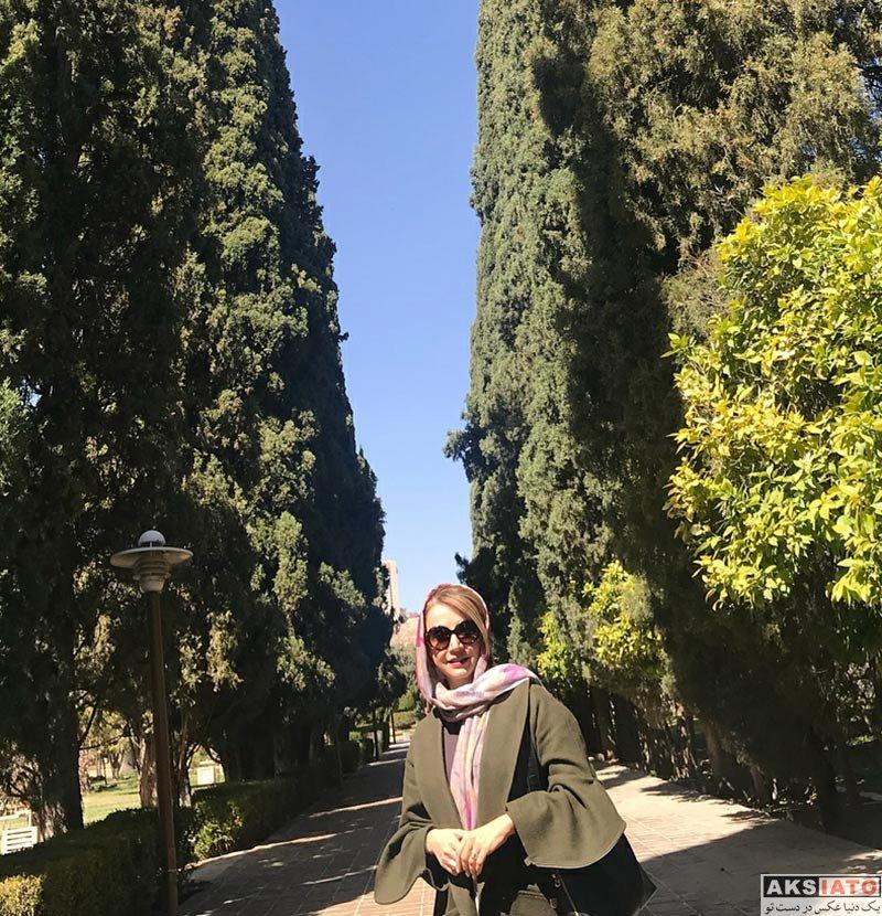 بازیگران بازیگران زن ایرانی  شبنم قلی خانی در باغ ارم شیراز (4 عکس)