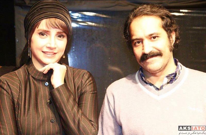 بازیگران بازیگران زن ایرانی  شبنم قلی خانی و مهمان هایش در اجرای نمایش چشم ها (6 عکس)