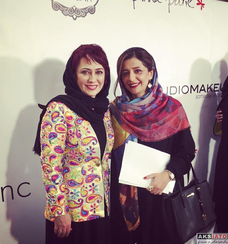 بازیگران بازیگران زن ایرانی  شیرین بینا و خواهرش در جشن گروه نوژیان (2 عکس)