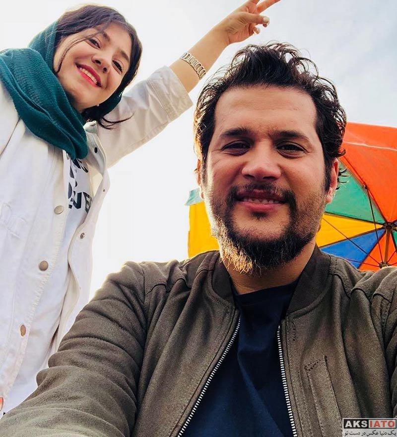 بازیگران بازیگران مرد ایرانی  سیاوش خیرابی در پشت صحنه سریال هست و نیست (۳ عکس)
