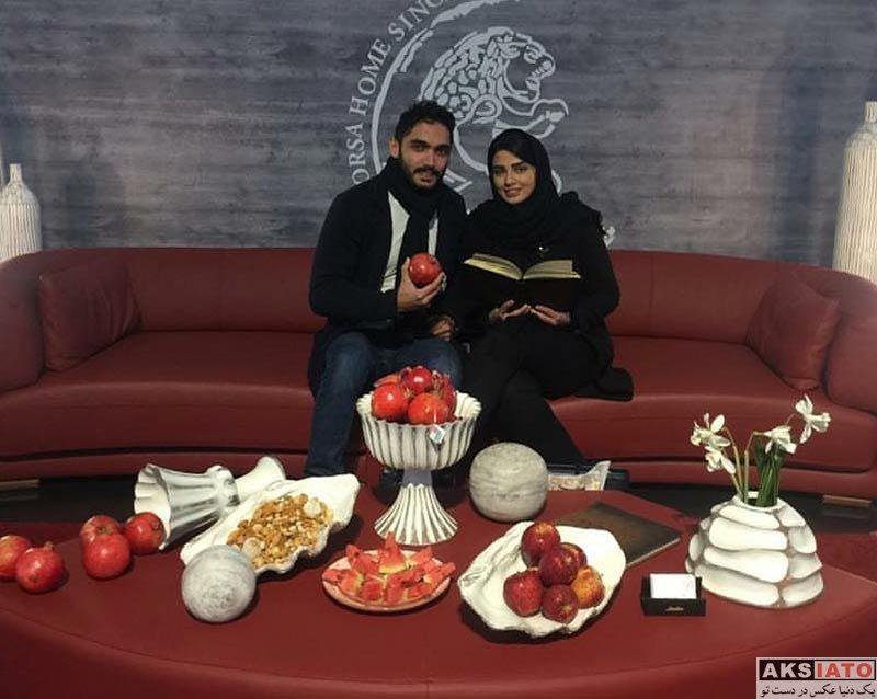 خانوادگی  سه عکس جدید از سیما خضرآبادی و همسرش