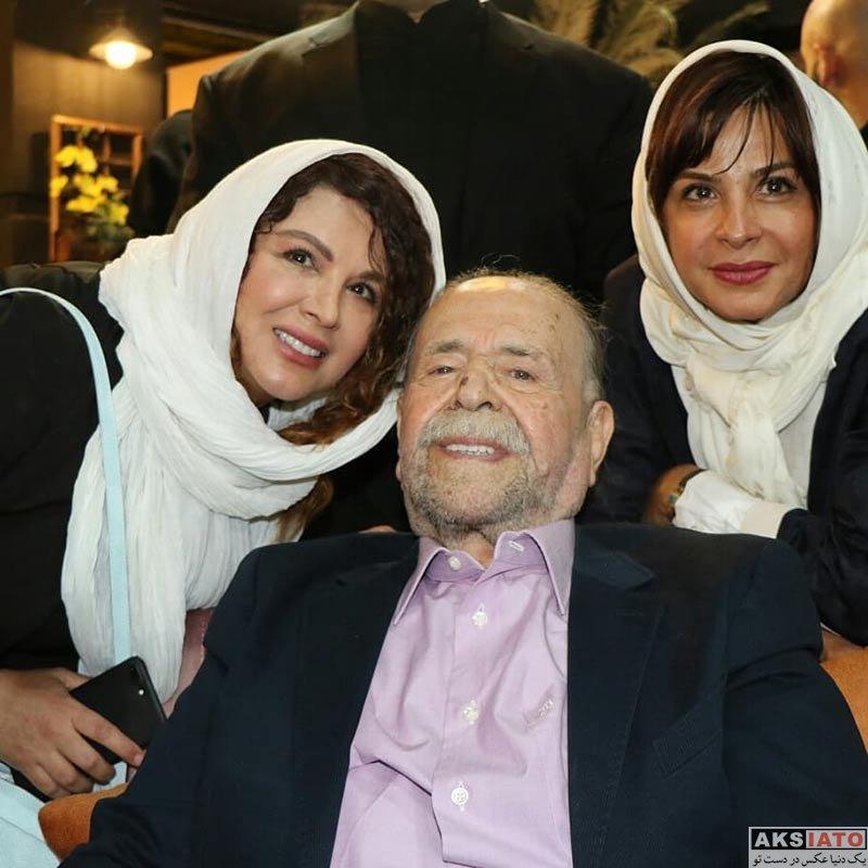 بازیگران بازیگران زن ایرانی  سیما تیرانداز در جشن تولد 88 سالگی محمدعلی کشاورز (3 عکس)