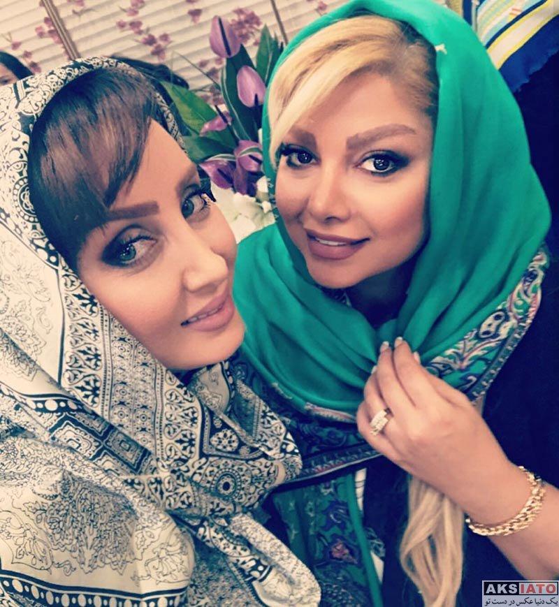 بازیگران بازیگران زن ایرانی  سولماز حصاری در سالن زیبایی راضی (3 عکس)