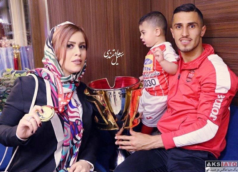 ورزشکاران ورزشکاران مرد  علی علیپور و همسرش در جشن قهرمانی پرسپولیس (4 عکس)